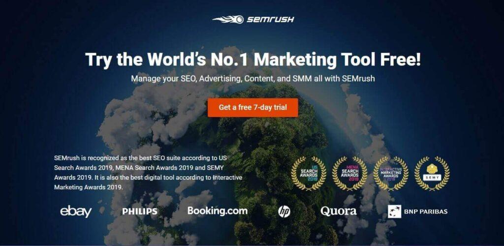 SEMrush Free Trial - Test SEMrush For 7 Days
